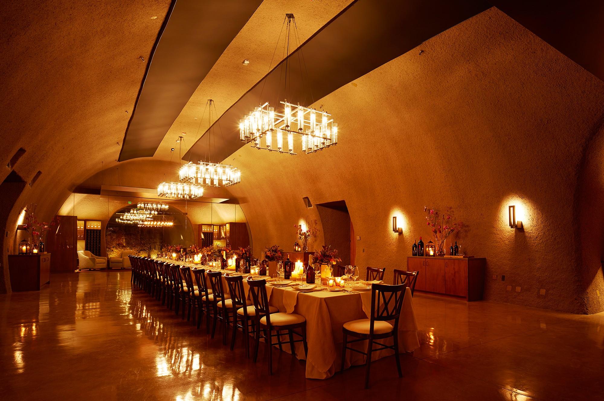 Inside main dining area at B Cellars Oakville