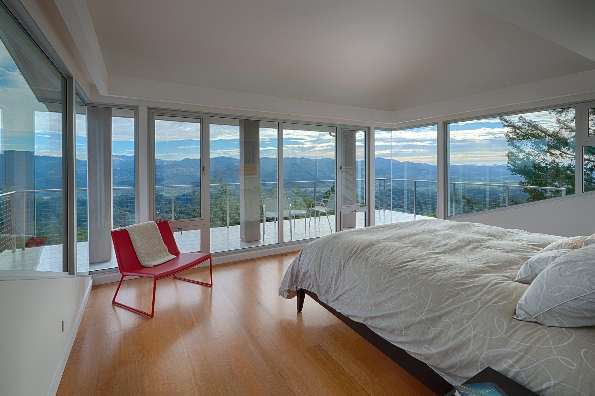 Bedroom Overlooking Napa Valley