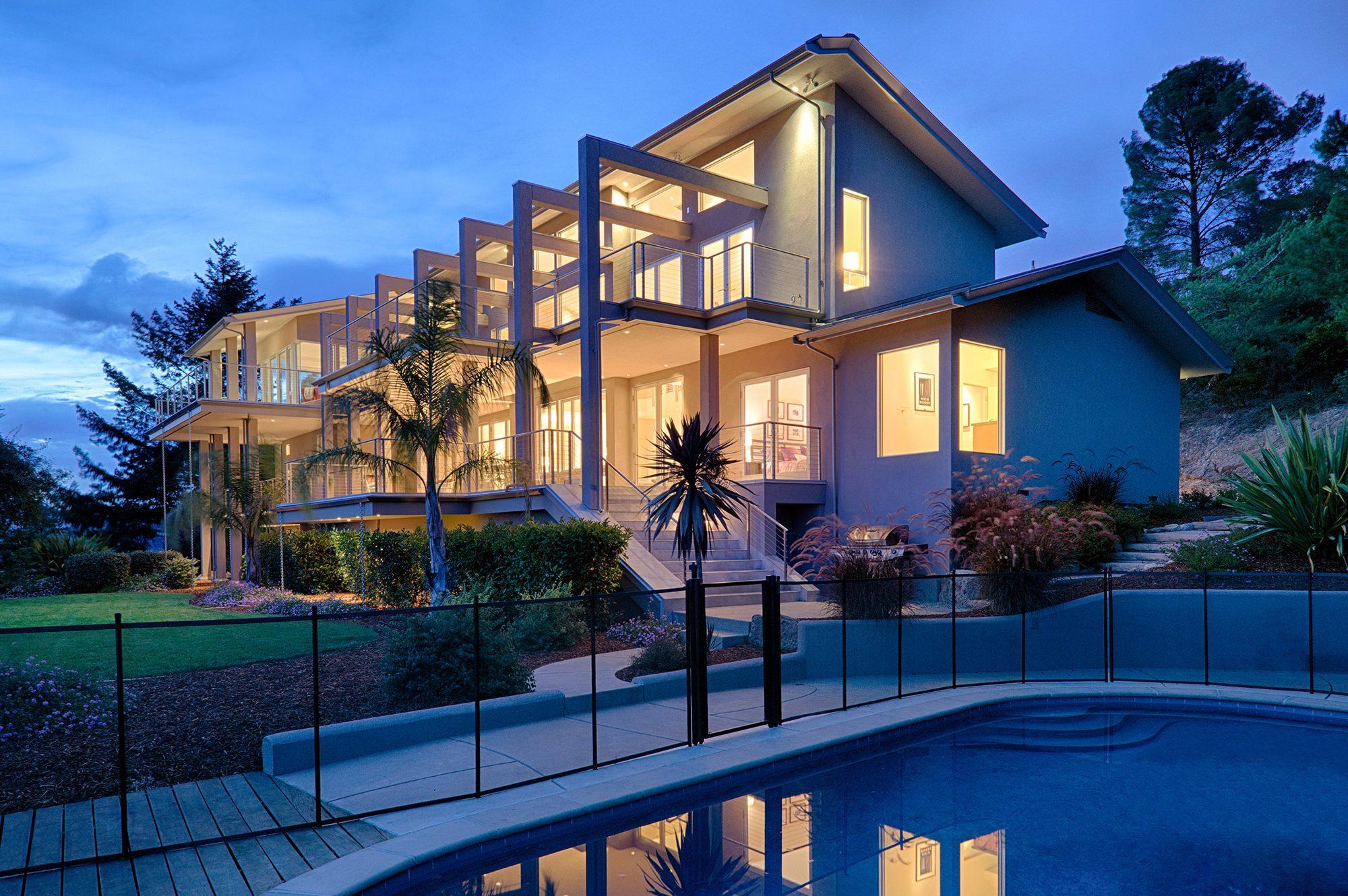 Custom designed home in Napa Valley
