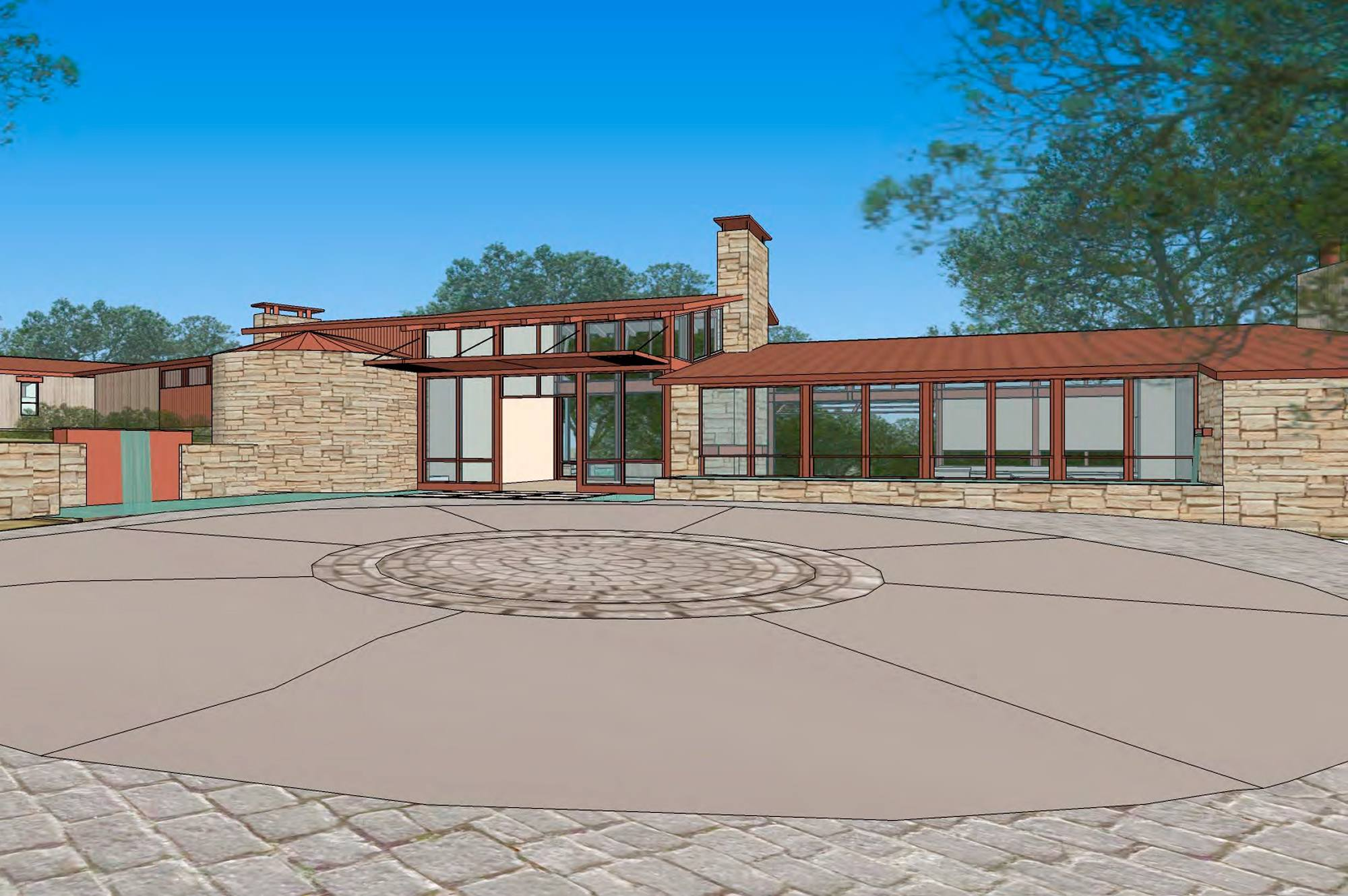 Rendering of exterior of a custom home