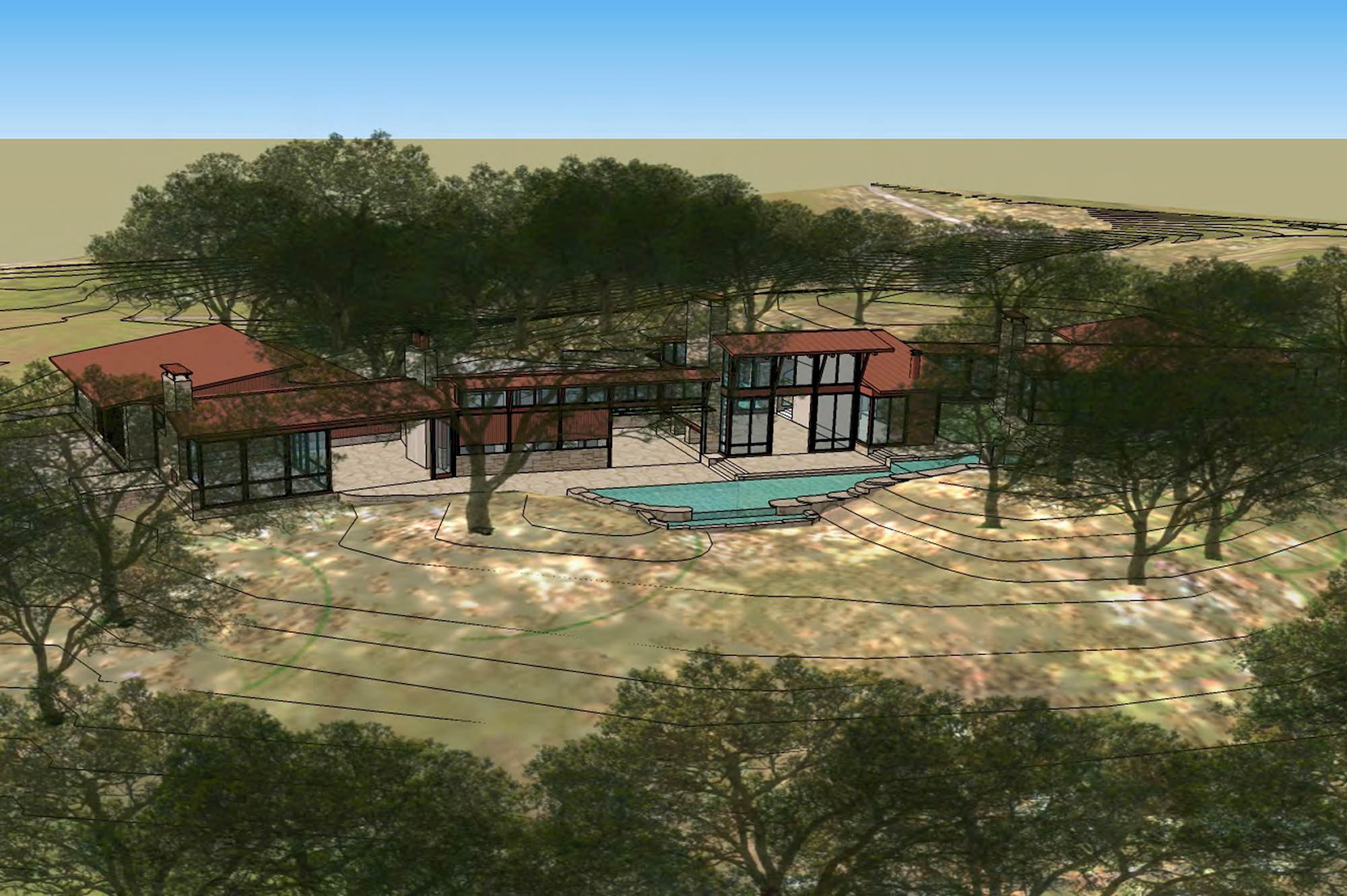Rendering of Double Eagle Estate in Napa