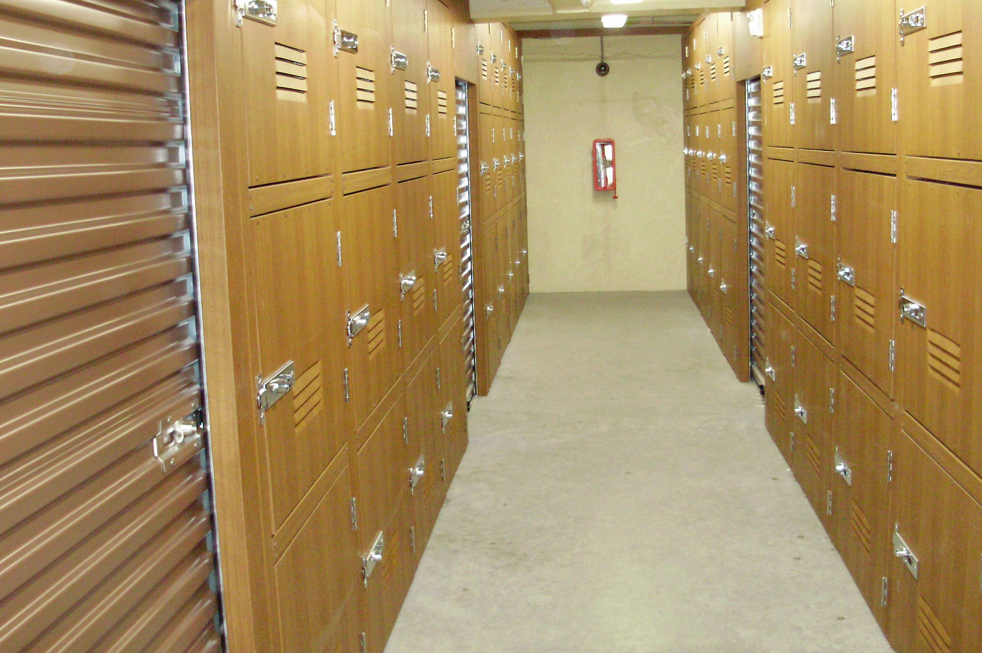Storage rooms at Rose City Storage