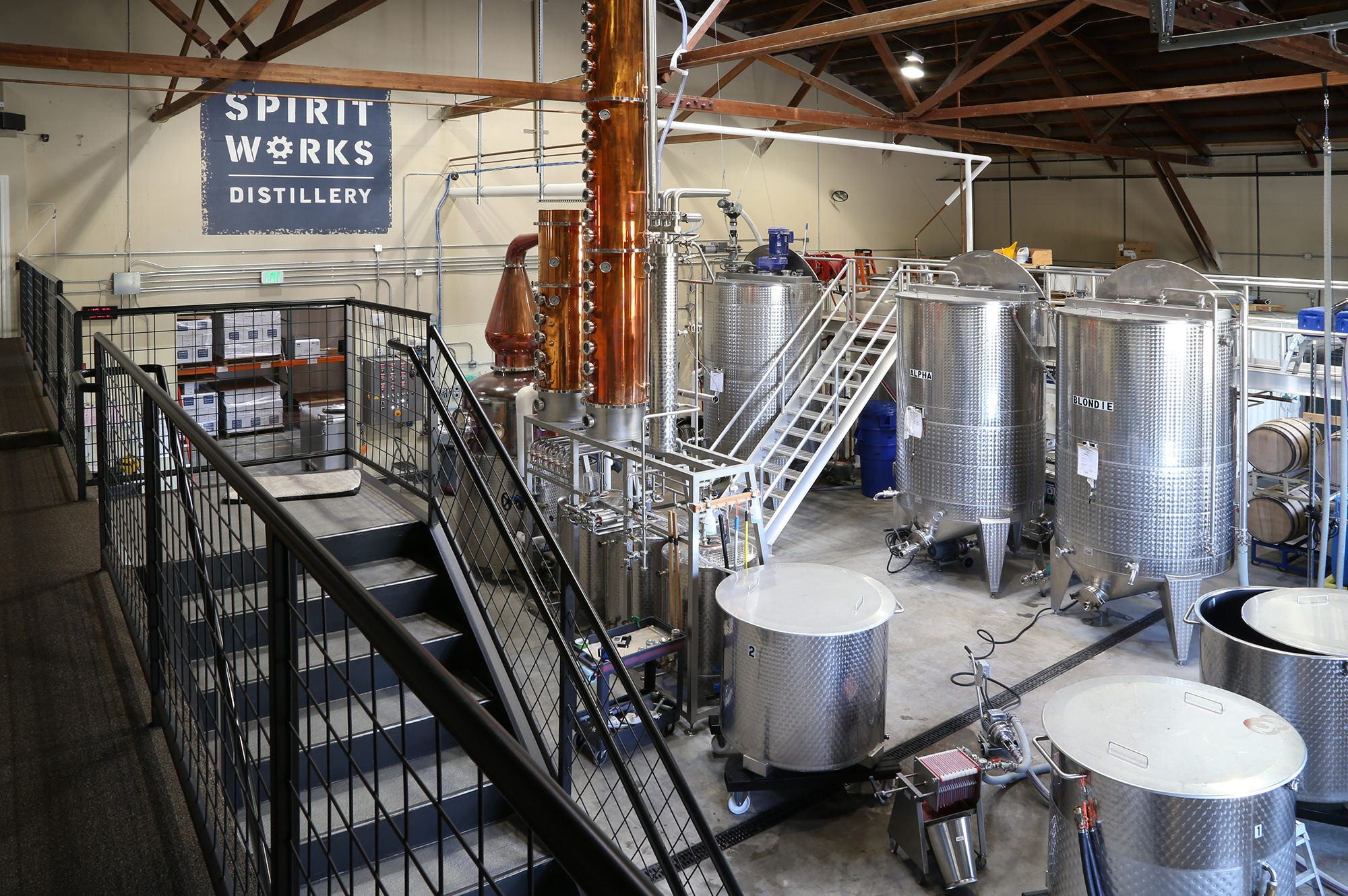 Spirit Works Distillery in the Barlow