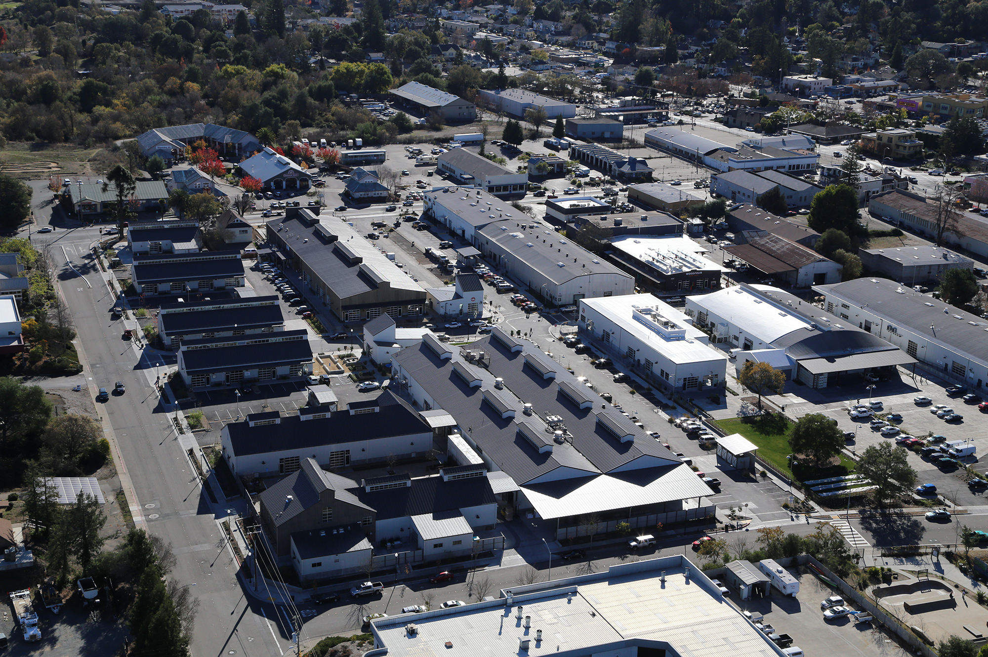 Aerial View of the Barlow Center Sebastopol