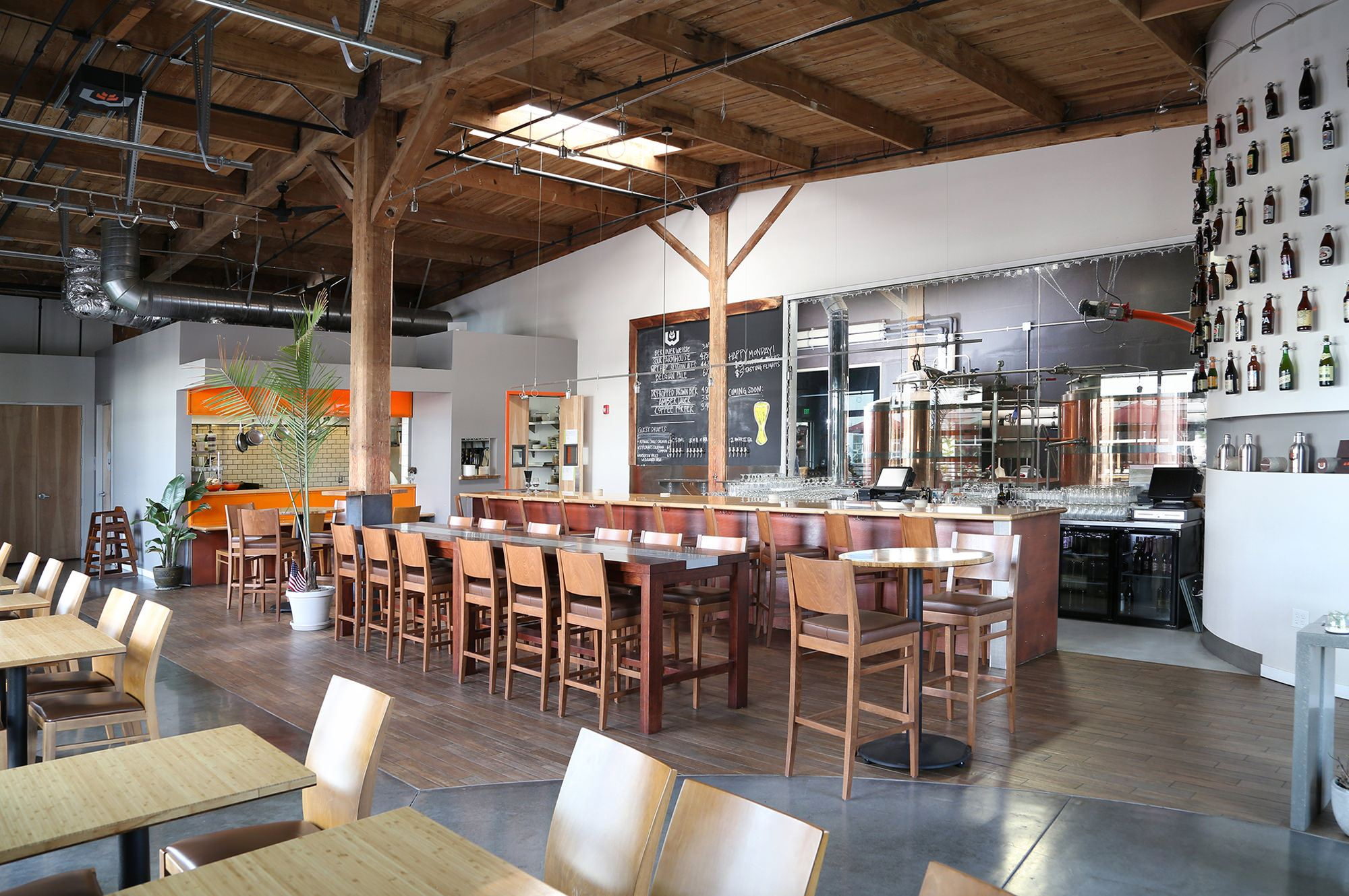 WoodFour Brewing interior tasting room