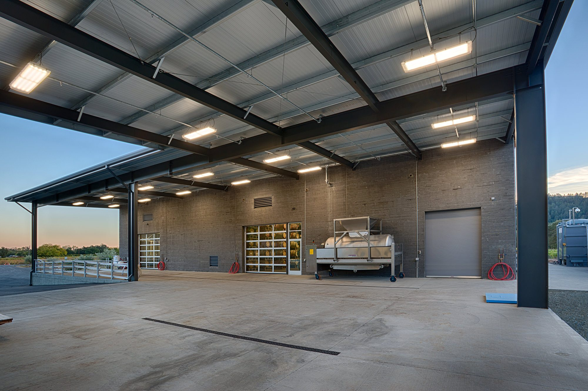 Wine Storage building at Titus Vineyards in Napa Valley