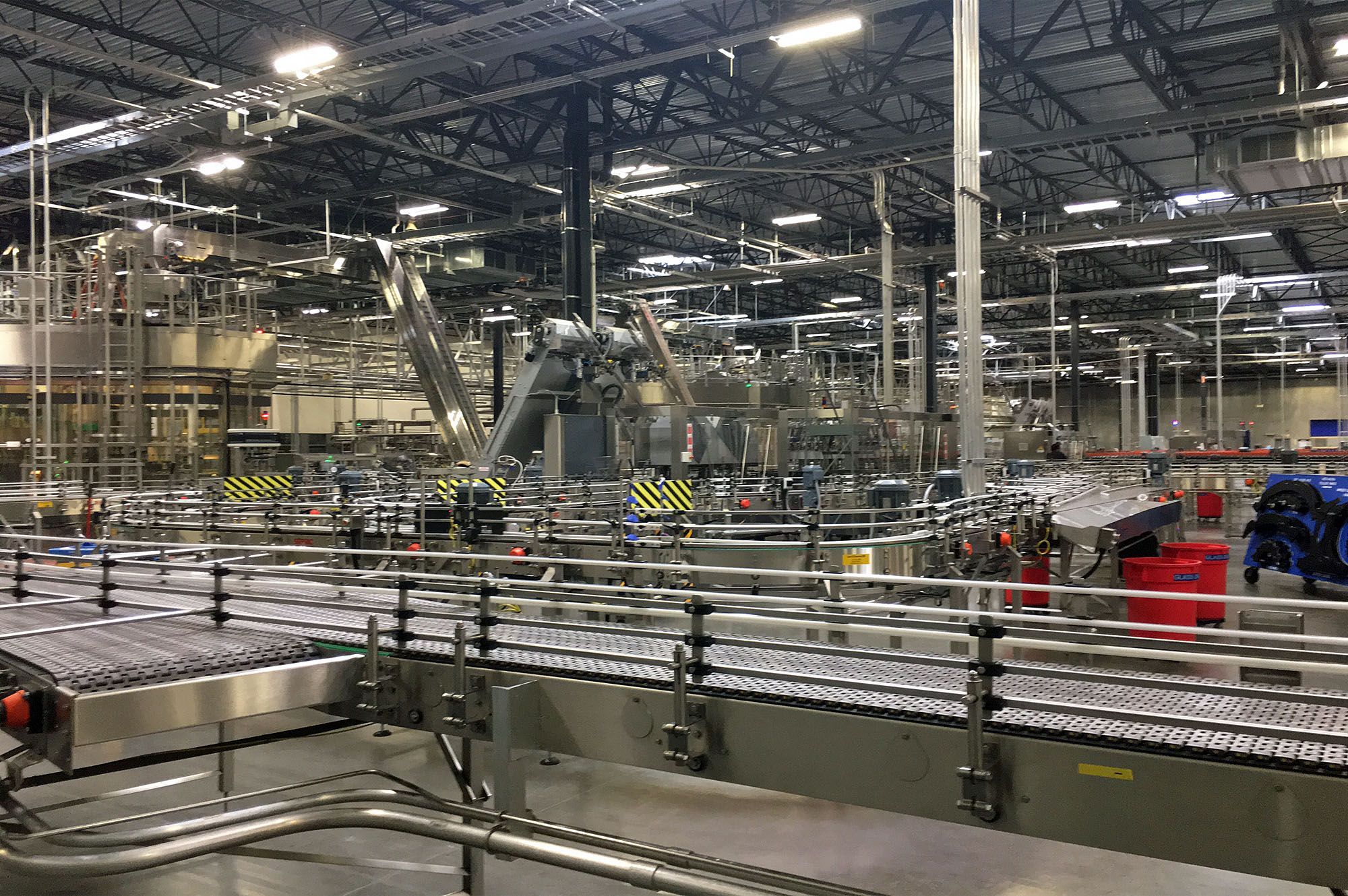 Bottling line for large winery