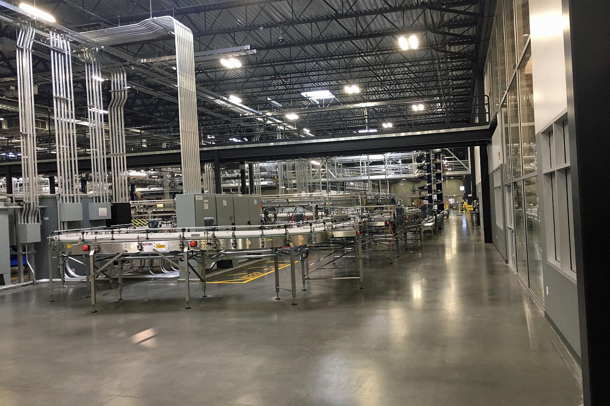 Commercial bottling line for winery