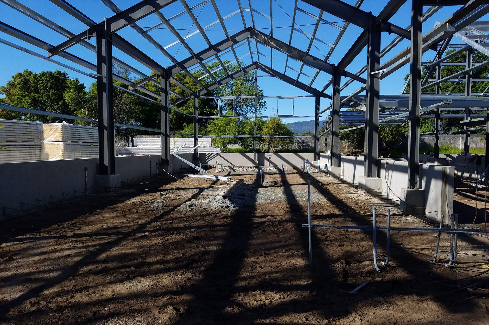 Dakota Shy Winery Construction in Progress