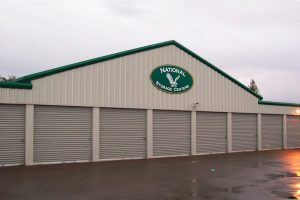 pre-engineered metal building used at a storage facility